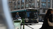 Stock Video Footage of Paris Street bus day