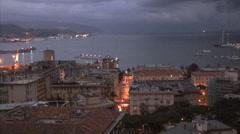 Italy La Spezia late evening lightening Stock Footage