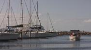Boat drifts towards camera Stock Footage
