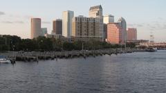 Tampa Skyline Dusk Stock Footage