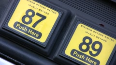Gas Octane Selector Tabs Stock Footage