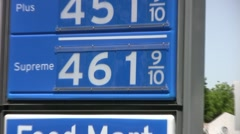 Rising Price of Gas - stock footage