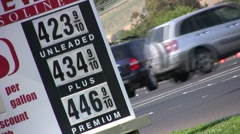 $4 Gallon Gas Prices - stock footage
