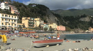 Stock Video Footage of Cinque Terra beach view