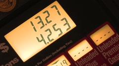 Digital Gas Pump Meter - stock footage