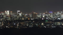 Tokyo at night - stock footage