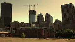 Skyline of Downtown Oklahoma City, OK at Sunset. Stock Footage