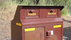 Recycling Recycle Bin Stock Footage