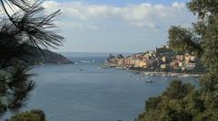 Cinque Terra harbor at  Portovenere  Stock Footage