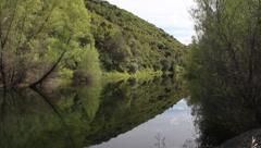Reflective lake - stock footage