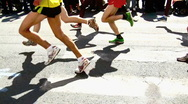 Stock Video Footage of marathon athletes