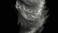 Swirl smoke and whirlwind. Stock Footage