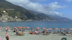Italy Cinque Terra beach - stock footage