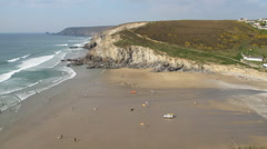 Porthtowan incoming tide time lapse Stock Footage