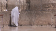 Kotel prayer and sound blast Stock Footage