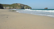 Portreath beach waves Cornwall UK Stock Footage