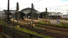 Cologne main station Stock Footage