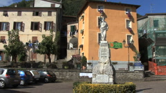 Italy Liguria statue in Covara Stock Footage