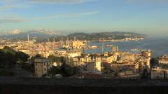 Italy La Spezia view of city Stock Footage