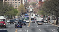 Busy Street in the Cities Intersection. Stock Footage