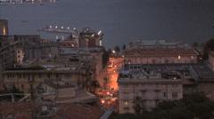 Italy La Spezia late evening street Stock Footage
