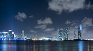 Time lapse of Miami skyline Stock Footage
