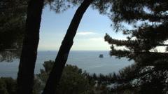 Italy Cinque Terra rock offshore Stock Footage