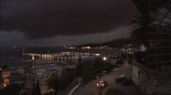 Italy La Spezia night with cars - stock footage