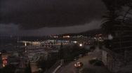 Italy La Spezia night with cars Stock Footage