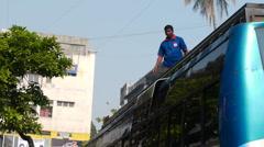 Mumbai street porter P1 Stock Footage