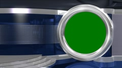 Blue Virtual News Studio - Chromakey1 - stock footage
