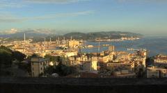 Italy La Spezia pans harbor Stock Footage