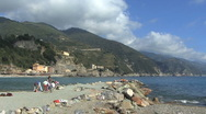 Stock Video Footage of Italy Cinque Terra breakwater view