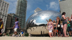 Chicago cloud gate time lapse Stock Footage