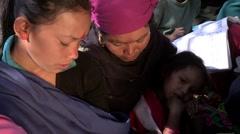 Nepal: Woman in Group Literacy Program Stock Footage