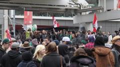 Marijuana Protest Toronto 2011 - 11 Stock Footage