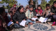 Nepal: Learning How to Read - stock footage