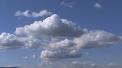 Pretty clouds in sky Stock Footage
