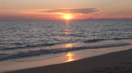 Stock Video Footage of sunset on the sea 11