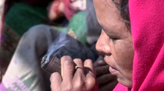 Nepal: Smoking HashHish Stock Footage