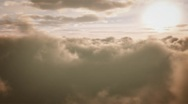 (1256) Beautiful serene sunset clouds aerial animation Stock Footage