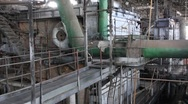 Stock Video Footage of Interior of old power station