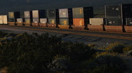 Early morning freight train near Palm Springs - 3 Stock Footage