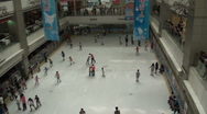 Stock Video Footage of Ice rink in Guangzhou shopping mall