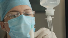 Doctor Preparing Anesthetic (HD) - stock footage
