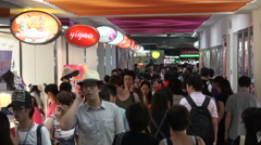 Busy shopping mall in China youth inside popular commercial hip crowd Stock Footage
