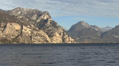 Italy Lago di Garda alpine cliffs Stock Footage