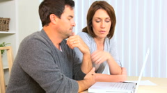 Couple in Financial Trouble Stock Footage