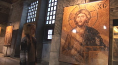 Ikons exhibition in Hagia Sophia   Stock Footage
