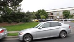 Facebook Headquarters Driveby Stock Footage